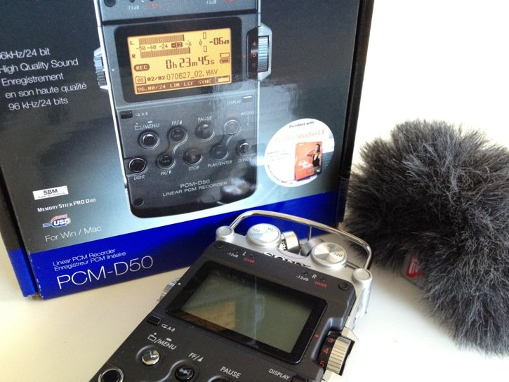 Sony PCM-D50 and Box