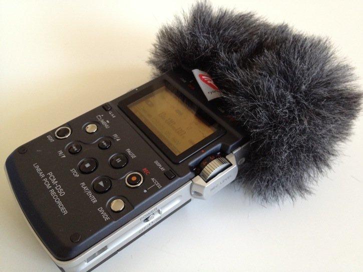 Sony PCM-D50 Wearing Windscreen