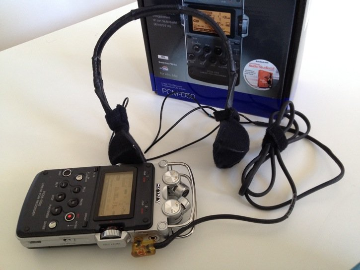 Sony PCM-D50 Audio Recorder with Sonic Studios DSM 6S/EH Microphone
