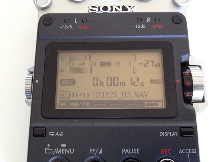 Sony PCM-D50 Display