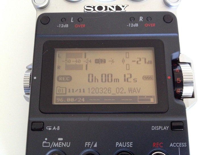 Sony PCM-D50 Display