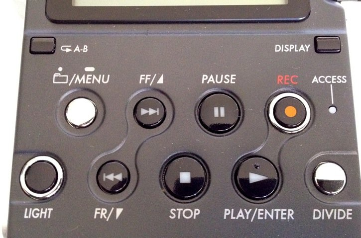 Sony PCM-D50 Transport Controls