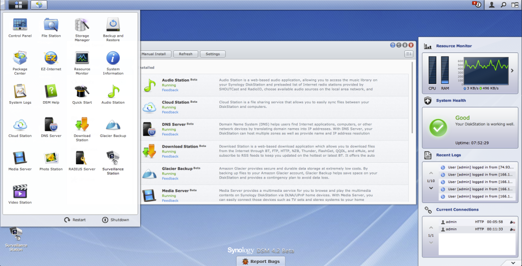 Synology DSM 4.2 Desktop