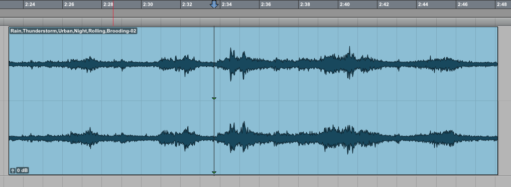 Pick your central edit. This is a good spot to begin a loop.