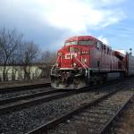 Field recording freight train ES44AC