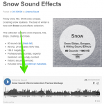 SoundCloud player on library page