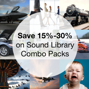 Save 15%-30% on Sound Library Combo Packs
