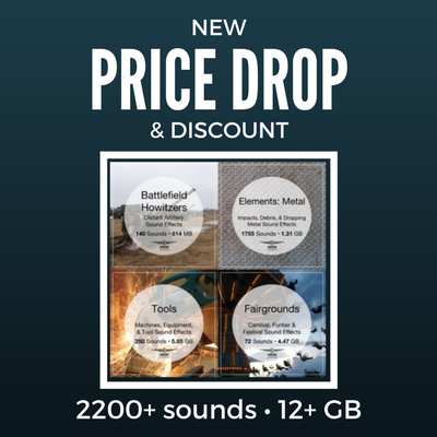Price Drop: Howitzer, Fairground, Metal, & Tools FX Reduced + 48-hour Sale