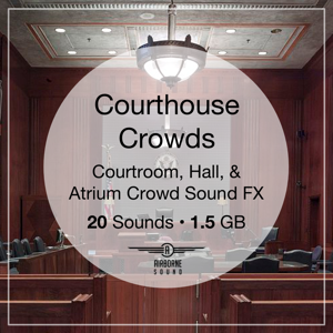 Courthouse Crowds Sound Clip Library