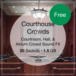 Courthouse Crowds Sound FX Library, Free