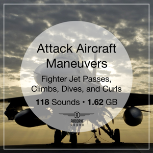 Attack Aircraft Maneuvers Sound FX Library