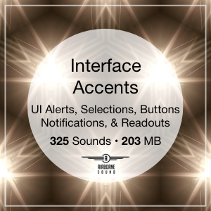 Interface Accents Sound Clip Library Icon