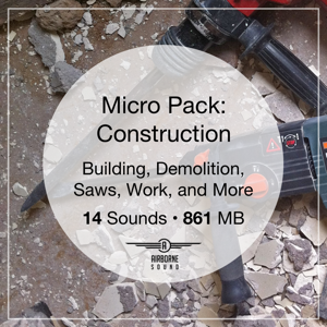 Construction Sound Effects Micro Pack