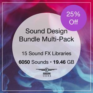 Sound Design Bundle Multi Pack Combo Square 300x Seal B